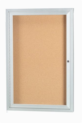 ENCLOSED ALUMINUM ILLUMINATED INDOOR BULLETIN BOARD CABINET - 36