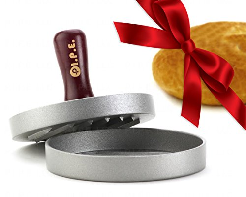 P.I.P.E. LLC Luxury Hamburger Press with 10 Burger Papers. Recommended by Restaurants. Grill the Delicious Burger Now with Hamburger Maker.