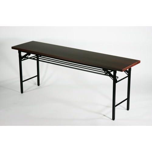■棚付■折りたたみ 折畳み 会議テーブル 会議用テーブル 高脚 ミーティングテーブル■7651■180x45x70cm