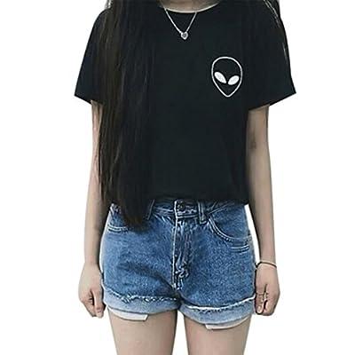 Changeshopping Fashion Women's Sexy Summer T shirt Casual Short Sleeve Blouse
