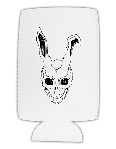 [TooLoud Scary Bunny Face White Distressed Collapsible Neoprene Tall Can Insulator] (Frank The Bunny Costume High Quality)