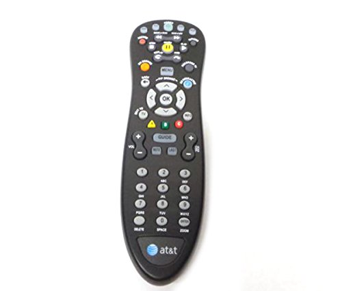 Genuine AT&T U-Verse Uverse S10-S4 Standard IR Infrared Multifunctional Digital DVR TV Television Universal Cable Box Black Remote Control Compatible Part Numbers: D-5456262551911, CYB UG-R#0713