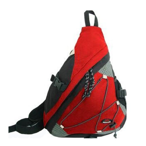 """20"""" Cuscus Single Strap Sling Daypack Backpack Red front-160830"""