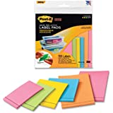 Post-it® Super Sticky Removable Label Pads, Assorted Neon Colors and Sizes, 6 Pads, 150 Labels per Pack (2900-M6)