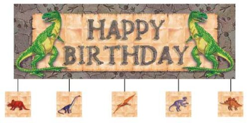 New Diggin' For Dinos Giant Birthday Banner with Attachments