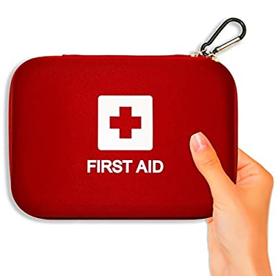Tactical First Aid Kit: First Aid Kit, 106-Piece Emergency Medical Hard Shell Kits From Verco Auto, Packed with Essential Survival Items, Travel Case Fits in Car Glovebox or Trunk, FREE CPR eBook! by Hangzhou Aosi Healthcare