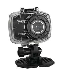 Vivitar DVR787HD Caméscope sportif Ecran 2,4'' (6,1 cm) 12 Mpix avec Caisson Etanche 10 m Full HD 1080p Noir