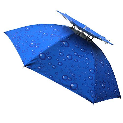 Aoneky-Folding-Umbrella-Hat-for-Fishing-Blue