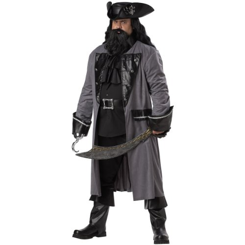 Blackbeard The Pirate Costume - XX-Large - Chest Size 48-52