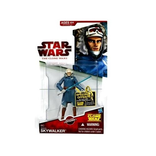 Star Wars 2009 Clone Wars Animated Action Figure CW No. 42 Anakin Skywalker Cold Weather Gear