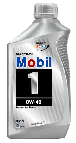 Mobil 1 96989 Synthetic 0W-40 Motor Oil - 1 Quart, Pack of 6