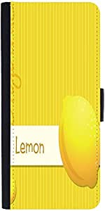 Snoogg Bright Organic Lemon Card In Vector Format Graphic Snap On Hard Back L...