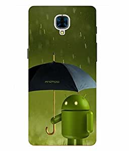 Case Cover Android Printed Green Hard Back Cover For OnePlus 3