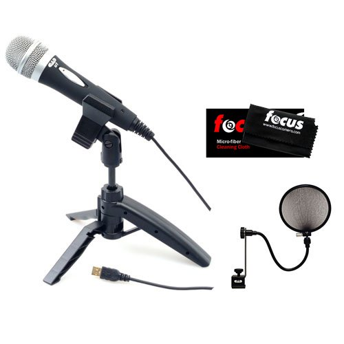 Cad U1 Usb Dynamic Recording Microphone With Tripod Stand & Audio Microphone Pop Filter