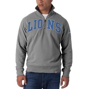 NFL Detroit Lions Mens Striker 1 4 Zip Jacket by