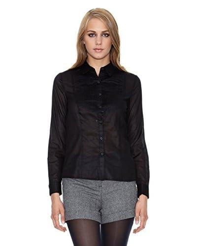 NAF NAF Camisa Mujer Negro