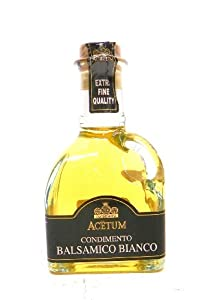 Acetum Balsamic Vinegar White Condiment Cruet, 8.45-Ounce