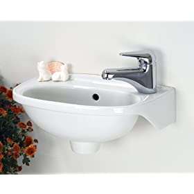 Barclay Tina Wall Hung Basin Sink White