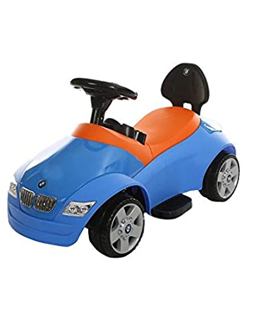 brunte mini battery operated ride on car for kids colour blue with music