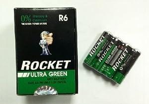 4 AA Batteries - Rocket Ultra Green ( 2 Pack )