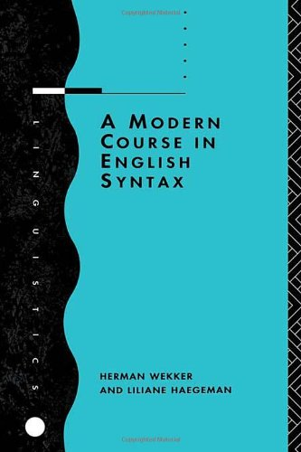 A Modern Course In English Syntax (Linguistics S) front-781014