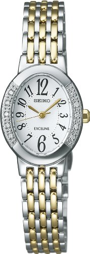 SEIKO EXCELINE solar super clear coating curve sapphire glass Women's watch diamond SWCQ051 [Japan Import]