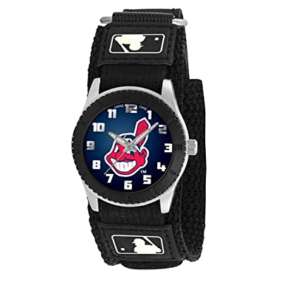 """Game Time Unisex MLB-ROB-CLE """"Rookie Black"""" Watch - Cleveland Indians"""