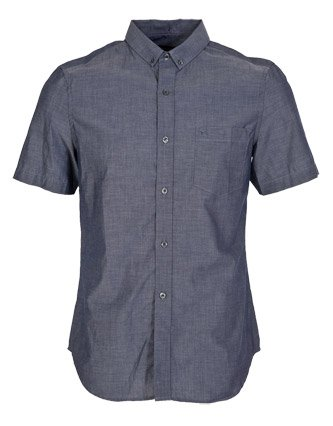 French Connection Con Shirt - Blue - Mens