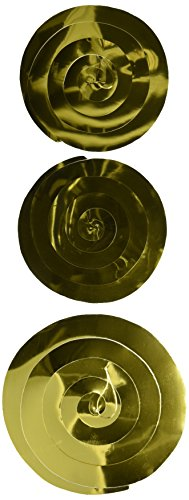 Beistle 6-Pack Twirly Whirlys, 4-24-Inch & 2-36-Inch, Black and Gold