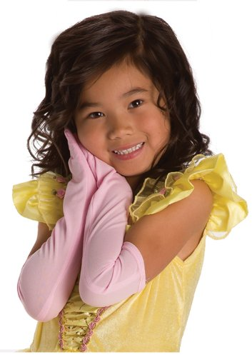 Little Adventures Child Long Gloves Dress up Role Play Accessory (Pink)