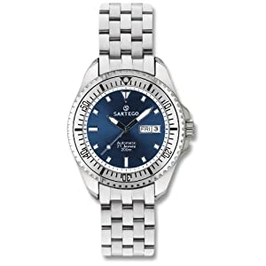 Men's Self - Winding Sartego Ocean Master Watch Blue Dial