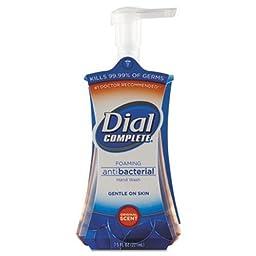 Dial Foaming Hand Wash, Fresh Scent, 7.5 oz Pump Bottle, 8/Carton (DIA02936CT)