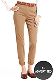 Cotton Rich Turn Up Hem Chinos