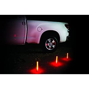 Life Gear LG437 Eco-friendly Glow Emergency Road Flares, White/Red, 3-pack