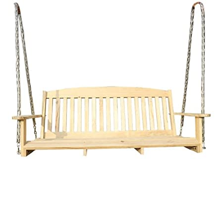 Outsunny 6' Pine Wood Outdoor Traditional Porch Swing at Sears.com