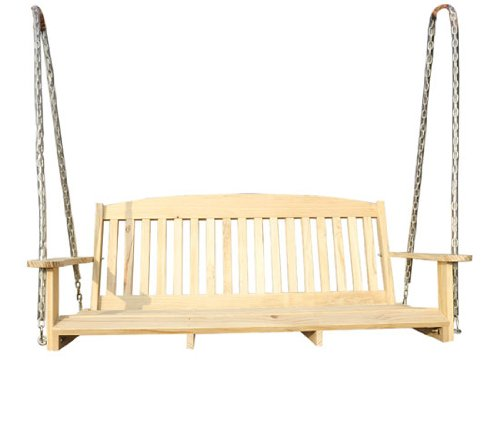 Outsunny 5 39 Pine Wood Traditional Outdoor Hanging Wooden Porch Swing Bench Seat Ebay