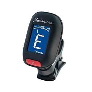 YMC Tuner-MT1-BK Lt-36 Clip on Style Chromatic Tuner for Guitars, Mandolins, Bass, Fiddle, Violin, Acoustic or Electric