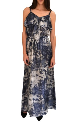 Juicy Couture Waterfall Maxi Dress Bellissa Stormy SM
