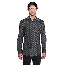 Favoroski Men's Dot Round Cotton Stylish Shirt