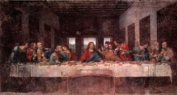 8X16 inch Leonardo Da Vinci Code Canvas Art Repro The Last Supper