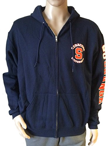 "Syracuse Orange Champion ""Go Orange"" Retro Logo LS Full Zip Hooded Jacket (L)"
