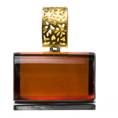 French Collection Cherry Amber and 24K Gold Plated Sterling Silver Rectangular Pendant