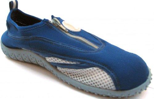 Aquatik Men and Women Aqua Water Shoes Beach Shoes with Zipper closure AD3316L Women 8 Navy