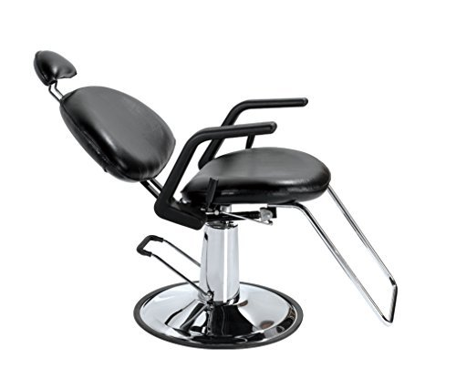 Bestsalon® New Black Hydraulic Recline All Purpose Barber Styling Chair Shampoo