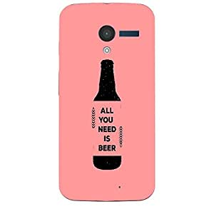 Skin4gadgets Awesome Wine & Dine Quotes, Pattern 58, Color - Cyan Phone Skin for MOTO X (XT-1055,1053)