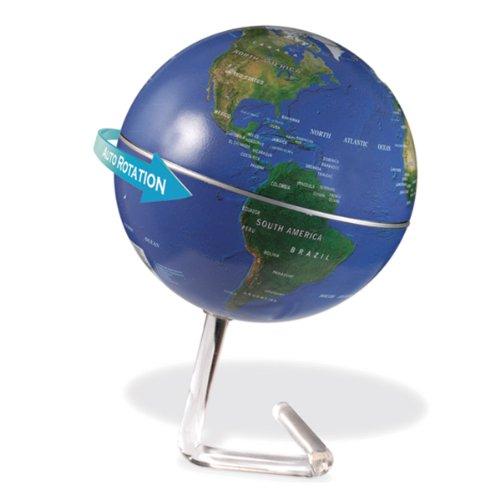 Drehender Globus Weltkugel Erdball Erdkugel für Deko Schüler Schreibtisch geographisch geografisch mit Batteriebetrieb + Designständer kaufen