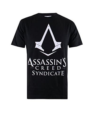 ICONIC COLLECTION - ASSASSINS CREED T-Shirt Manica Corta Syndicate - Logo  [Bianco]