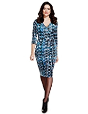 Per Una Abstract Print Bodycon Dress