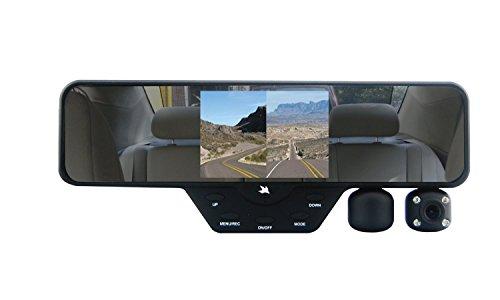 Falcon Zero F360 HD DVR Dual Dash Cam, Rear View Mirror, 1080p, 32GB SD Card (Black)