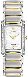 Citizen Eco-Drive Silhouette Diamond Stainless Steel Women's watch #EG2964-56A